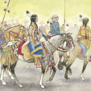 Decorated Horses of the Crow Nation